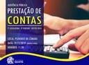 AUDIÊNCIA PÚBLICA - PRESTAÇÃO DE CONTAS